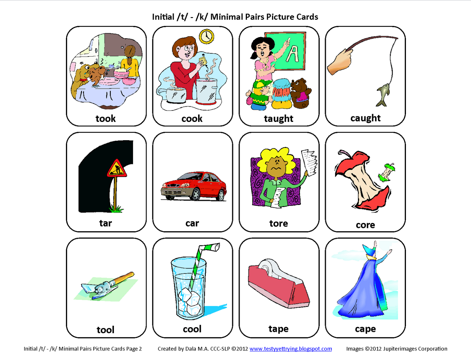 Premise Indicator Words: Testy Yet Trying: Initial T / K Minimal Pairs
