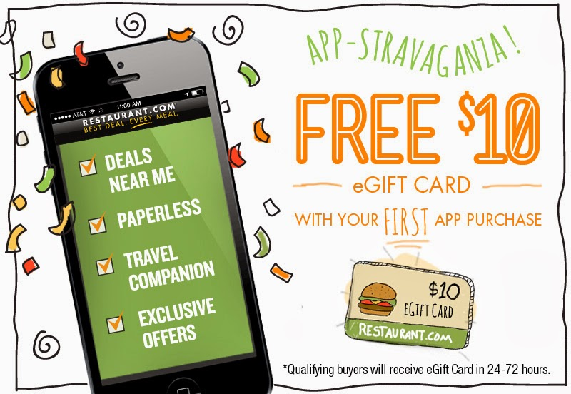 Free $10 eGift Card with your first app purchase