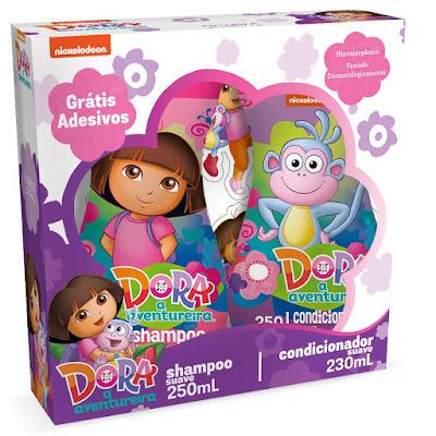 kit shampoo e condicionador Dora