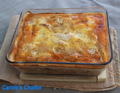 Carole's Chatter: No pasta lasagne