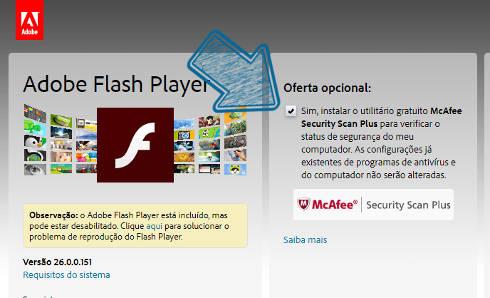 baixar adobe flash