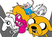 juego Dulce princesa Finn y Jake coloring