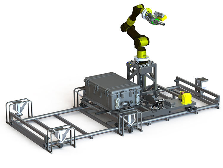 Мобильная дробеструйная роботизированная система