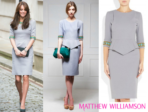 The Duchess Of Cambridge's MATTHEW WILLIAMSON Embellished Dress