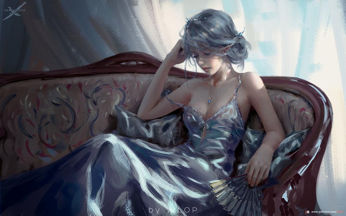 Sưu tập tranh ảnh đẹp nhất của Wlop (Wang Ling) | PHẦN 1