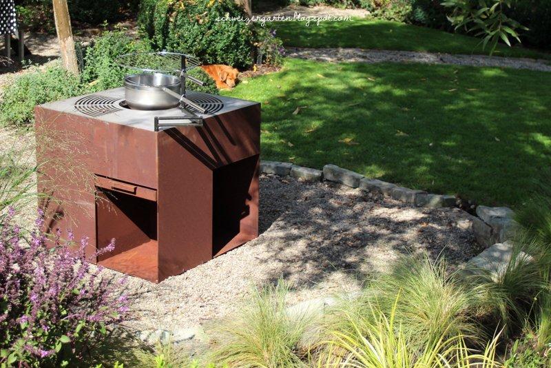 ein schweizer garten die neugestaltete grillstelle. Black Bedroom Furniture Sets. Home Design Ideas
