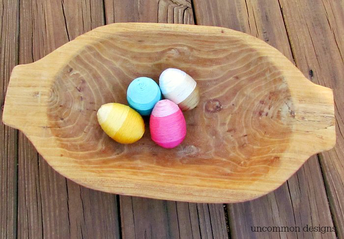 Thread Wrapped Easter Eggs
