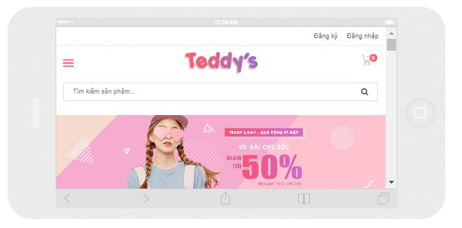 template bán hàng blogspot chuẩn seo hiển thị mobile ngang