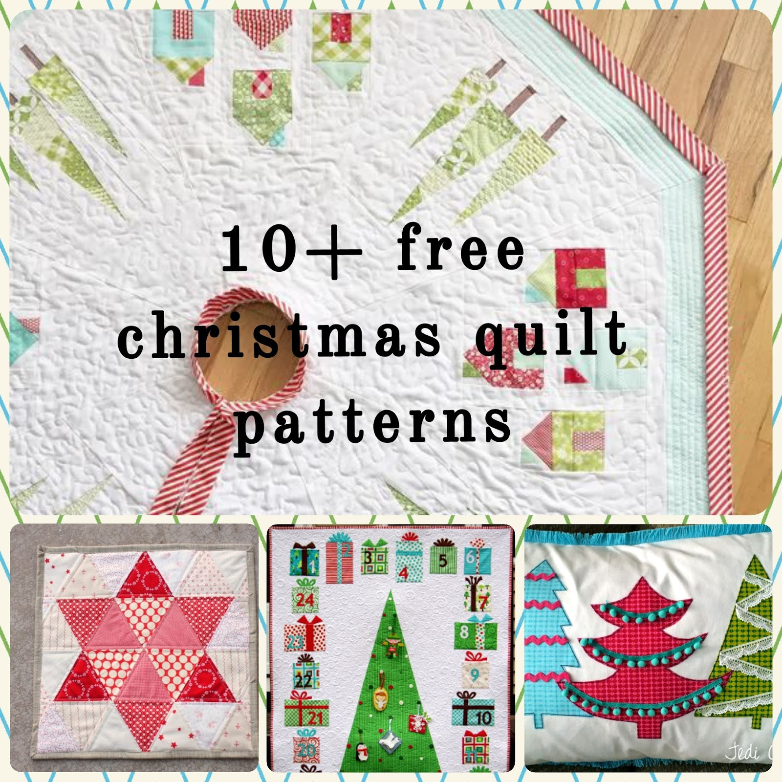Christmas Quilt Patterns.10 Free Christmas Quilt Patterns