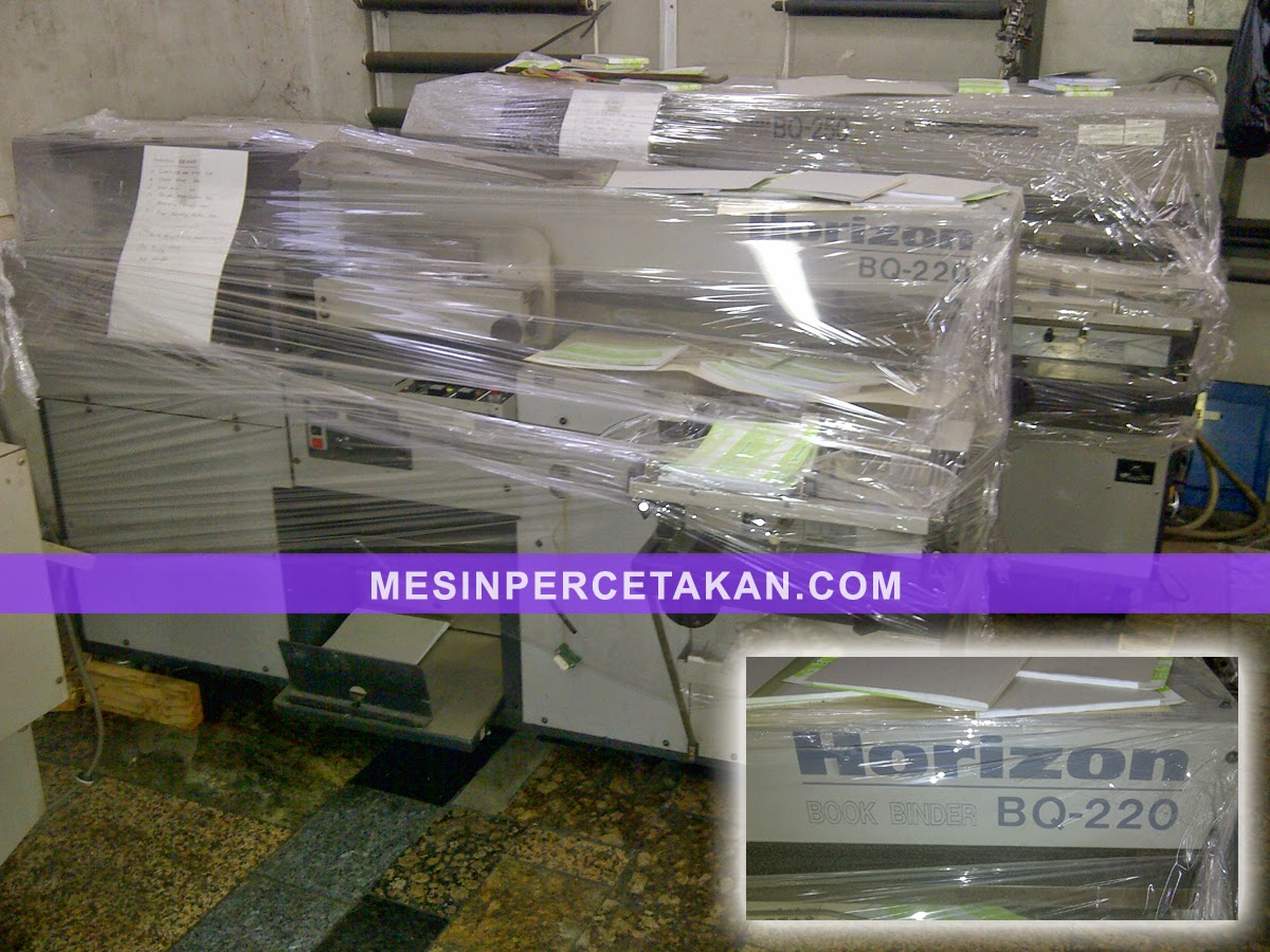 Mesin Lem Panas | Horizon BQ 220 | 1 mata (clamps)