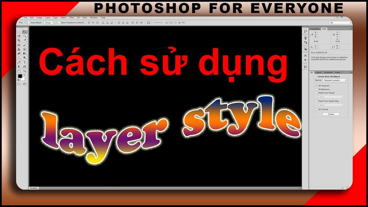 Tổng hợp các hiệu ứng cho Layer trong photoshop bạn không thể bỏ qua