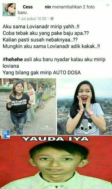 Meme Kids Jaman Now Gak bilang mirip auto dosa