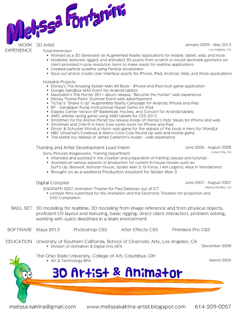 Animation Art Resume Traditional Resume Template Example  Animation Resume