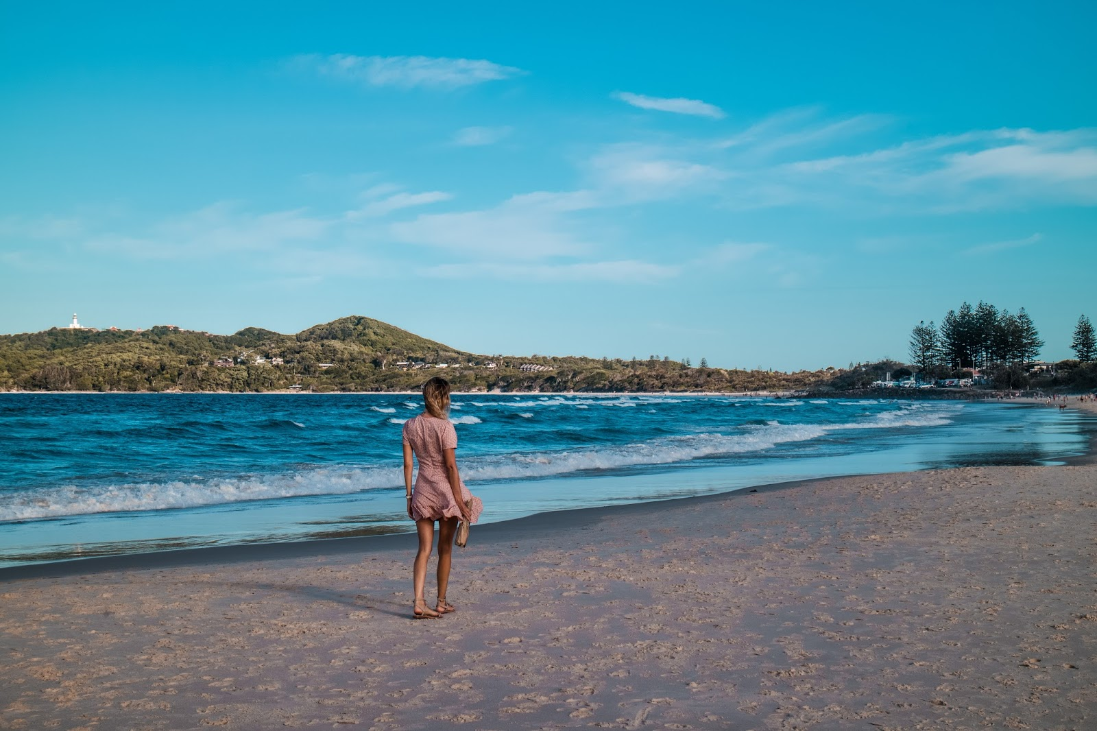 fashion and travel blogger, Alison Hutchinson, wearing Auguste the Label in Byron Bay