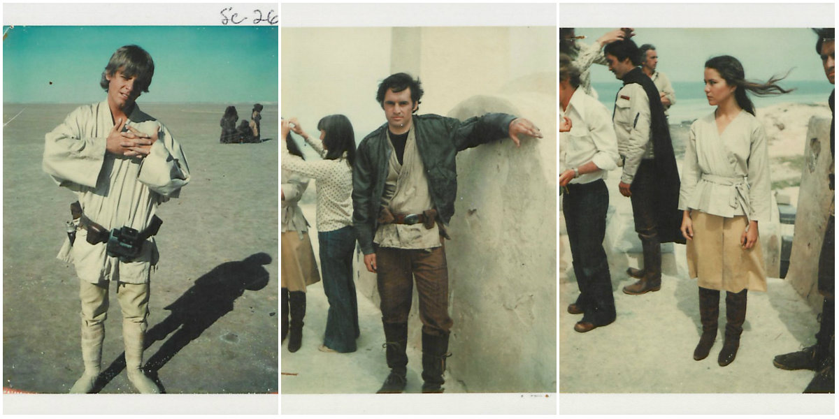 Rare Candid Polaroid Snaps Taken During the Making of 'Star Wars Episode IV: A New Hope'