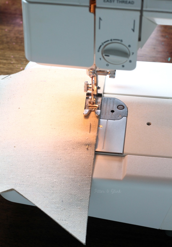 Sewing DIY Drop Cloth Banner