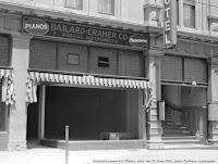 Image of Bailard-Cramer Co. Pianos at 936 State St. as seen after the June 29, 1925 Santa Barbara earthquake.