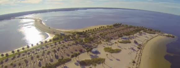 Fred Howard Park Beach, Tarpon Springs, Florida USA