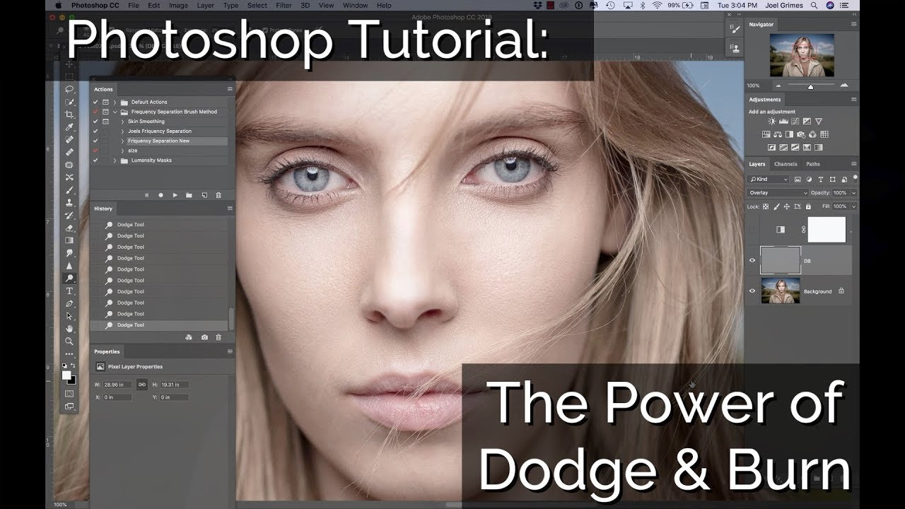 Photoshop Tutorial: The Power Of Dodge & Burn