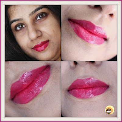Wearing Revlon Super Lustrous Crème Lipstick - Cherries In The Snow 440, Swatches & Photos