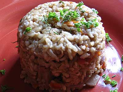 Radish and Brown Rice Pulao