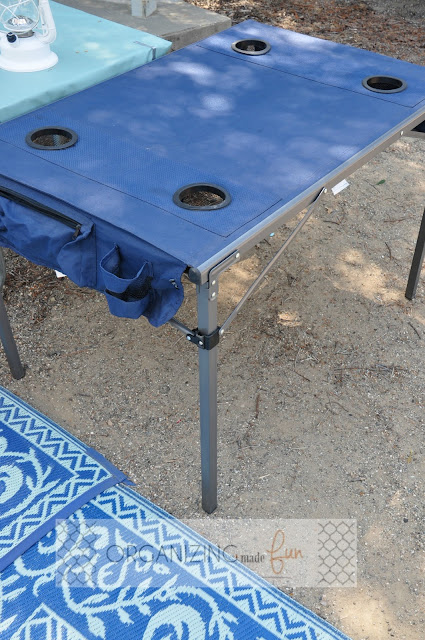 Folding travel table for camping :: OrganizingMadeFun.com