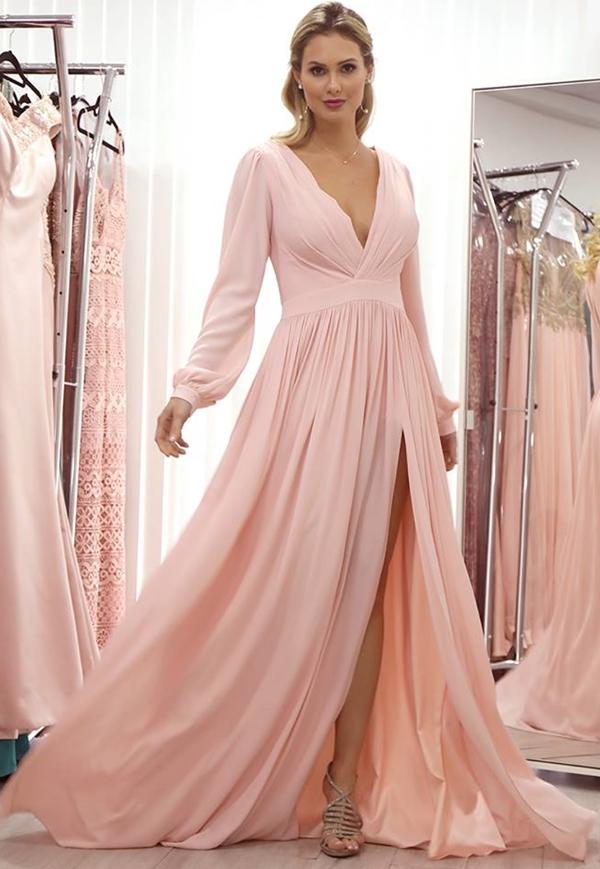 vestido festa rosa millenial