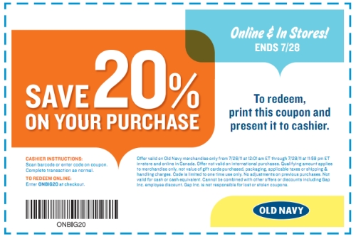 Old Navy coupon codes and sales, just follow this link to the website to browse their current offerings. And while you're there, sign up for emails to get alerts about discounts and more, right in your inbox/5(13).