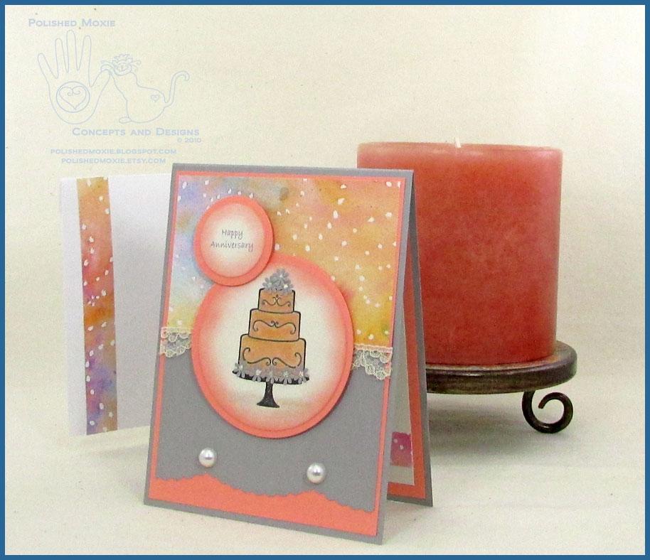 elegant handmade wedding anniversary card  happy