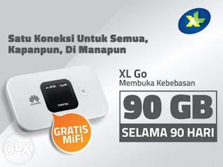Huawei E5577 Modem 4G MiFi Bundling XL Go 90GB/3Bulan