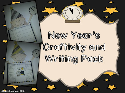 New Year's Eve Craft and Writing Activities