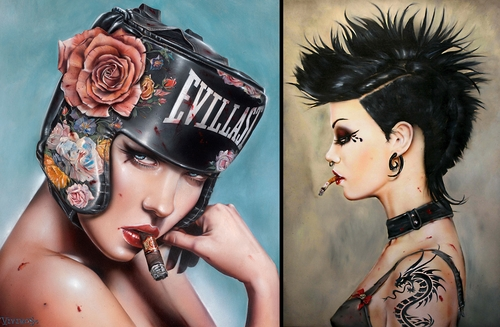 00-Brian-M-Viveros-Paintings-of-Femininity-in-the-Eye-of-the-Artist-www-designstack-co