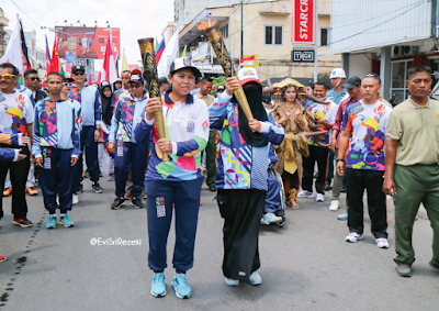 Pawai Obor Pangkalpinang Asian Para Games 2018