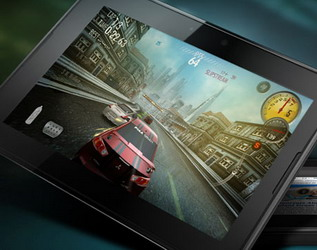 BlackBerry PlayBook launching with preloaded Need for Speed Undercover and Tetris Games