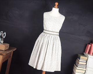 White & Grey Dress MolloyCo Etsy