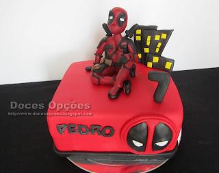 Bolo de aniversário Deadpool