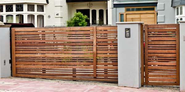 Model pagar rumah minimalis type 45 model klasik