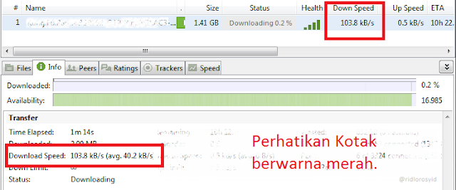 Batasi Bandwidth uTorrent Ketika Download