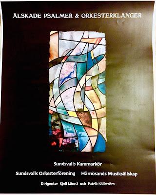Affisch för konserten Älskade psalmer & Orkesterklanger