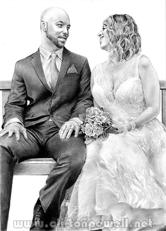 Woodie Wedding Portrait