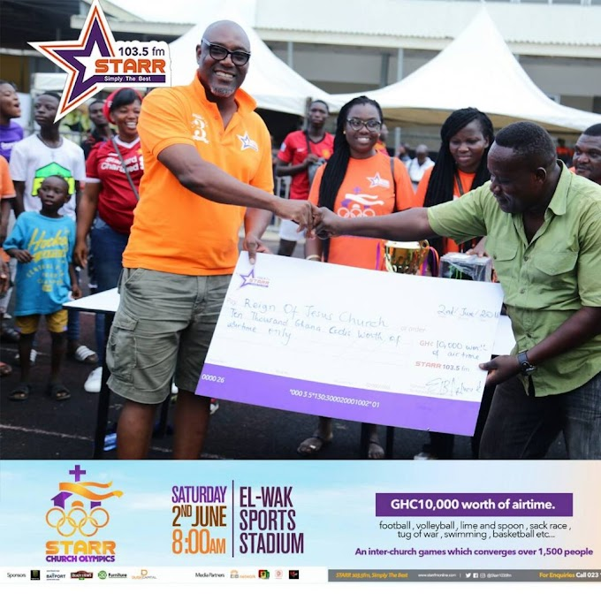 Photos: Reign of Jesus Chapel crowned winners of 2018 Starr FM's Church Olympics