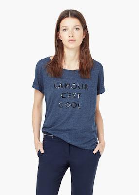 Mango Printed Blend T Shirt