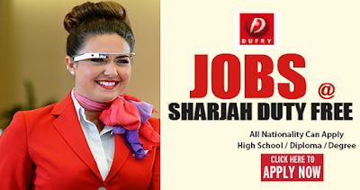 New Jobs At Sharjah Duty Free Shop