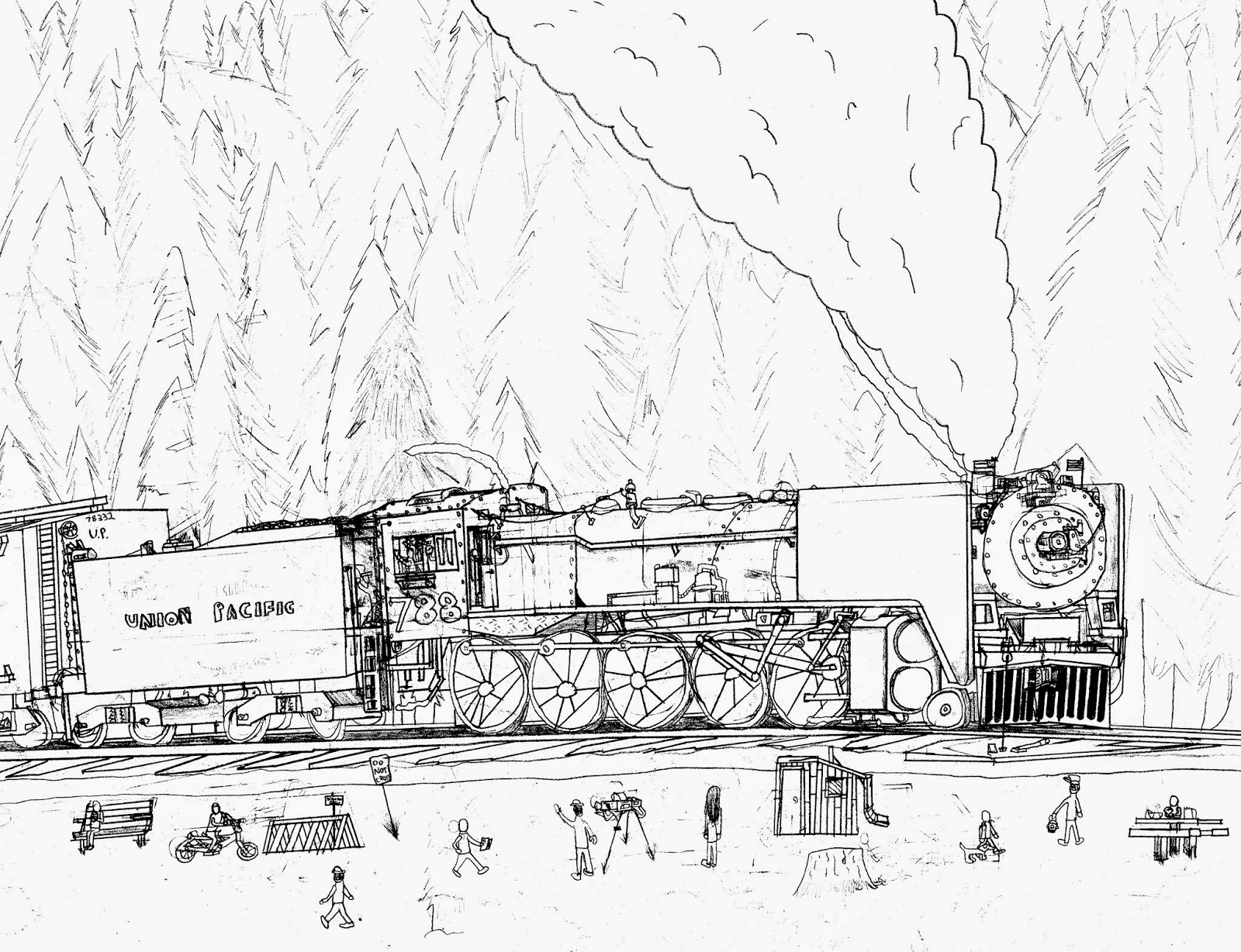 union pacific coloring pages | Chinook Hobby Talk: My Favourite Trains - By Robby Gale