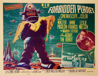 Forbidden Planet poster with Robby Robot