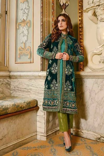 Velvet Wedding Party Dress With Net Dupatta Handwork Pulses