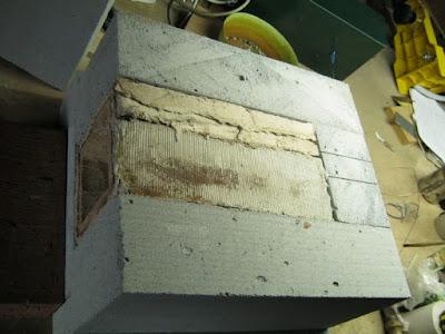 печь без верхнего слоя
