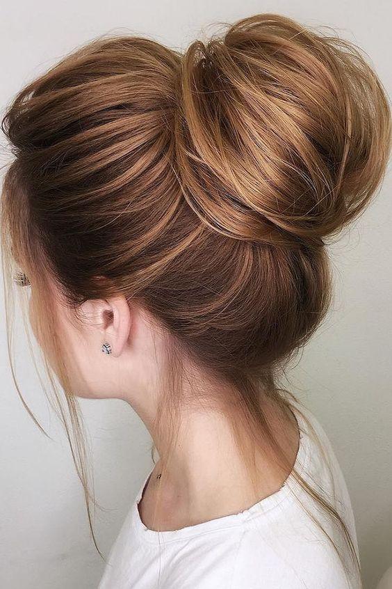 Voluminous Top Bun Hairstyles
