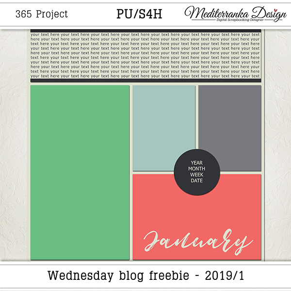 WEDNESDAY BLOG FREEBIE - 2019/01