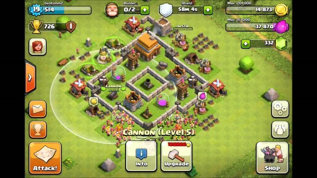 clash of clans best defense town hall 4